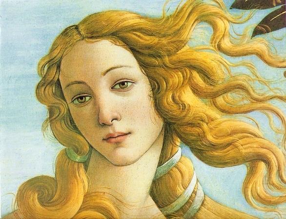 Sandro Botticelli - Vénusz születése (részlet)